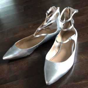 Silver Pointy Toe Banana Republic Sandals Size 9
